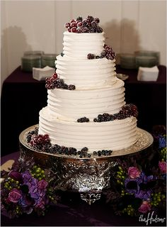 Buttercream icing and sugar-frosted fruit. Yum!    Photo by Jason
