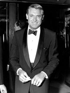 Cary Grant, such a sharp dresser & so handsome. (love his smile)