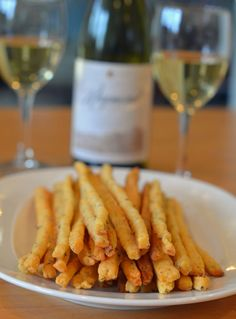 Delicious cheddar and herb straws - looks like french fries! don't tell me your kid don't like that ;-)