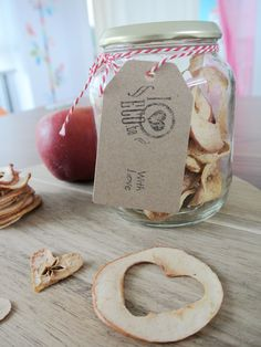 DIY Valentijn appelchips   by iloveecoblog.be