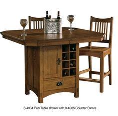 8-4034 Arts & Crafts Pub Table