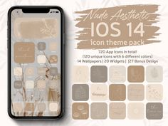Instantly download these 120 Nude Aesthetic App Icons with 6 different beautiful nude colors + 14 Wallpapers + 47 Special Icons & Widgets to personalize your iPhone Home Screen (iOS 14) and create your own aesthetic look! WHAT YOU RECEIVE 720 App Icons in total! (120 unique icons/6 different nude Apple Tv, Apple Watch, Evernote, Lightroom, Facebook Messenger, Fitbit, Iphone Widgets, App Store, Google Drive