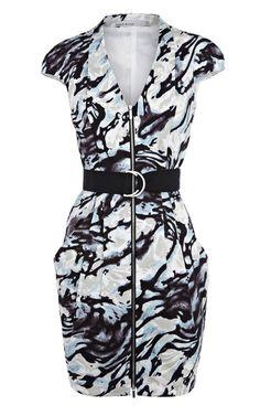 Karen Millen Zebra Print Dress [#KMM106] - $84.66 :