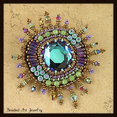 Beaded brooch by Susan Pierle | by Beaded Art Jewelry