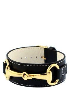 Fornash  Belmont Bracelet Collection Black Leather Cuff  $21.50  $45.00  52% off