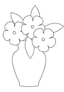 Farm Animal Coloring Pages For Preschool Applique Templates, Applique Patterns, Applique Quilts, Applique Designs, Flower Patterns, Printable Flower Coloring Pages, Colouring Pages, Coloring Pages For Kids, Simple Flower Drawing