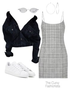 """Untitled #1092"" by thecurvyfashionistaa ❤ liked on Polyvore featuring Alexander Wang, Chanel, adidas and Phyllis + Rosie"