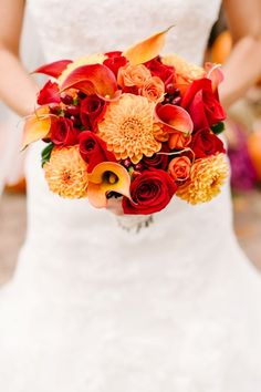fall wedding bouquet- minus the calla lilies I like it.