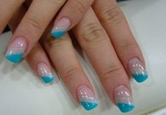Diagonal French Nails!