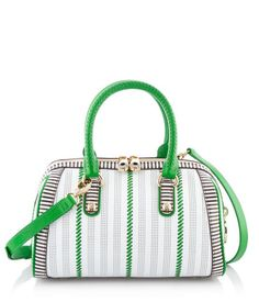Centennial Stripe Perforated Barrel   Handbags   Henri Bendel The Centennial Stripe Small Barrel belongs in every Bendel Girl's designer handbag collection. Crafted with Saffiano leather that's adorned with signature Henri Bendel stripes, this luxury handbag is an essential accessory this season.
