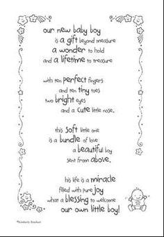 Baby Boy Page Page Poem Scrapbook Sticker