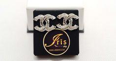 ต่างหู Chanel Earring Crystal SHW size 2.5 cm. ของใหม่ พร้อมส่ง!! - Iris Shop