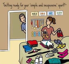 Running Matters #241: Getting ready for your simple and inexpensive sport? - humor