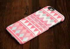 Pink Aztec Pattern iPhone 6 Case and Samsung Galaxy S5 Case #132