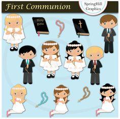 Instant Download First Communion Digital por SpringHillGraphics, $5.00