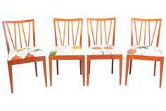 Scandinavian Teak Dining Chairs - Set of 4 on Chairish.com