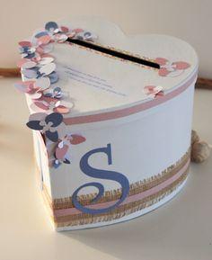 Urne coeur ~ Décoration mariage, baptême, anniversaire~ Esprit fleuri, liberty... : Boîtes, coffrets par declic-deco