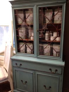Awesome vintage painted hutch!