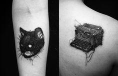 Tatuagens linhas contínuas - Stan Bree, Cidade do México;