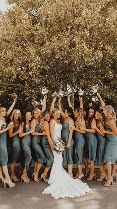 Bridesmaids And Groomsmen, Wedding Bridesmaid Dresses, Dream Wedding Dresses, Wedding Attire, Wedding Styles, Wedding Photos, Future Mrs, Theme Color, Fantasy Wedding