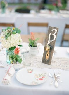 Love the creative spin on Alice in Wonderland with these table numbers! | Los Angeles Wedding from Sarah K Chen Photography  Read more - http://www.stylemepretty.com/2013/08/27/los-angeles-wedding-from-sarah-k-chen-photography/