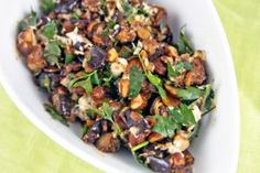 Best Eggplant Salad With Smoked Almonds Goat Cheese Recipe on ...