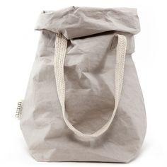 UASHMAMA Grey Paper Carry Bag