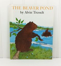The Beaver Pond by Alvin R Tresselt, 1980s Weekly Reader Ecological Transformation by naturegirl22 on Etsy