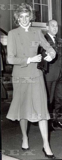 March 1985 Princess Diana Visits Fishmongers Hall.