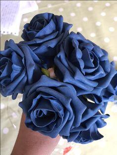 Faux blue foam roses
