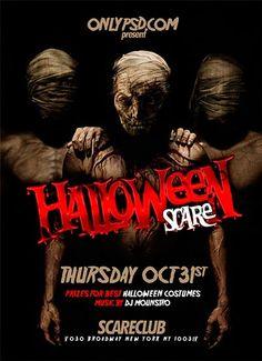 Free Halloween PSD Flyer Template…                                                                                                                                                                                 Más
