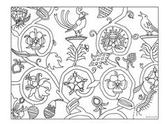 Adapted From An English Coverlet from the 1600s | Flickr - Photo Sharing!