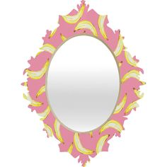 Lisa Argyropoulos Gone Bananas In Pink Baroque Mirror | DENY Designs Home Accessories