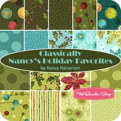 It's time to get ready for the holidays! Nancy's Holiday Favorites fabric- the perfect mix between graphic and realistic prints.