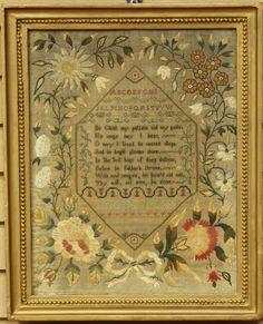 AMERICAN OR ENGLISH SAMPLER Marla Hayton Drewll, 1841