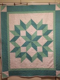 Star Quilt Blocks, Star Quilt Patterns, Star Quilts, Easy Quilts, Pdf Sewing Patterns, Quilting Tutorials, Quilting Projects, Quilting Ideas, Embroidered Quilts