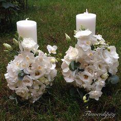 White wedding #flowerdipity #white #elegant #wedding #candles Pillar Candles, Elegant Wedding, Taper Candles
