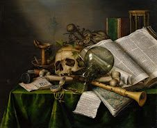 Vanitas - 1663 Still Life with Books and Manuscripts   Edwaert Collier