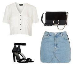 """""""Untitled #463"""" by itgirlcarlota ❤ liked on Polyvore featuring Topshop, Yves Saint Laurent and Chloé"""