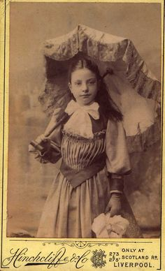Young Girl with Parasol, 1890's