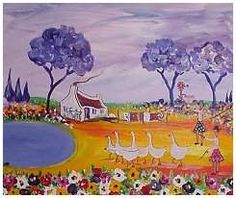 Portichi Africa Art, Out Of Africa, African Paintings, South African Artists, Naive, Canvases, Landscape Art, Impressionism, Folk Art