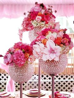 Love the bling vases
