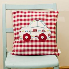 Car Appliqued Cushion