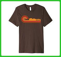 Mens Retro Style Hackensack New Jersey Skyline T-Shirt Large Brown - Retro shirts (*Amazon Partner-Link)