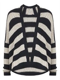 Striped cardigan. Sandwich collection Winter 2014.