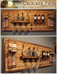Texas sized wine/liquor rack! www.facebook.com/crockertwincreations