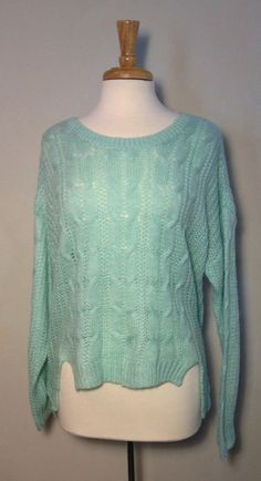 This teal color is so great for winter $50 #teal A Breath of Fresh Air Sweater