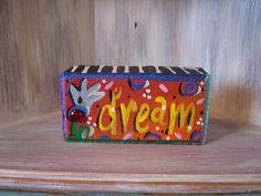 Dream Brick Whimsical Garden Art by KathyHyatt on Etsy, $18.00