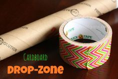 What do you get when you combine a sturdy cardboard tube and a roll of funk-a-delic Duck Tape? A Cardboard Drop Zone!