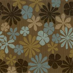 3 Yd Piece Manolo Mink Floral Upholstery Fabric